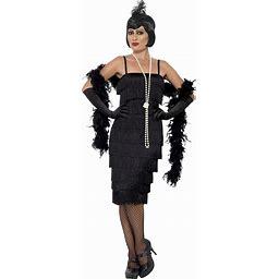 Smiffys Women's 1920'S Black Flapper Costume