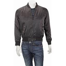 Saint Laurent Men's Black Jacket, Size: 48