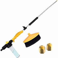 Hydro Jet Sprayer For High Pressure Power Washer Wand - 30 Inch + 9 Inch Long Extendable Sprayer, Hose Nozzle, For Car Washer, Window Water Cleaner,
