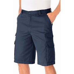 Kingsize Men's Big & Tall 12 Inch Cargo Shorts, Size: Tall - 46, Blue