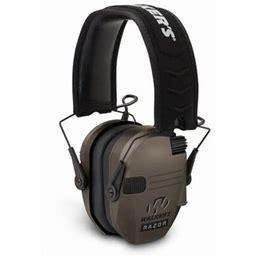Walkers Game EAR Razor Slim Shooter Folding Earmuff 23 DB Flat Dark Earth, Size: 10.5 X 8, Beige