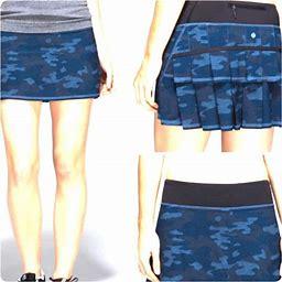 Lululemon Athletica Skirts | Tall Blue Camo Oil Pace Setter Skirt | Color: Black/Blue | Size: Various