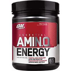 Optimum Nutrition Essential Amino Energy Pre-Workout Drink Mix In Fruit Fusion - 1.29 Lb Powder, 65 Servings - Protein & Fitness - Muscle Builders