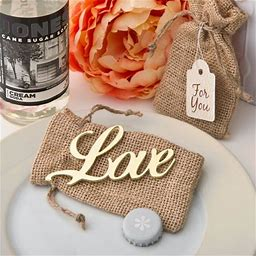 36 Shabby Chic Gold Love Bottle Opener From Fashioncraft