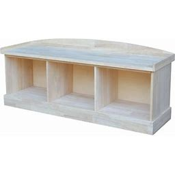 International Concepts Be-150 Bench With Storage, Ready To Finish, Size: Storage Bench