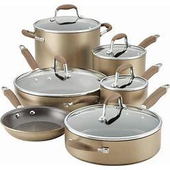Anolon Advanced Home Hard-Anodized Nonstick 11-Pc. Cookware Set - Bronze