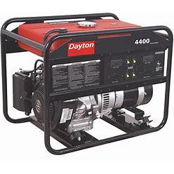 Dayton Portable Generator, Conventional, Generator Fuel Type Gasoline, Generator Rated Watts 4,400 W Model: 38AW97