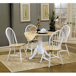 Greer Natural Brown And White 5-Piece Dining Set
