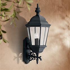 """Builder 30 1/2"""" High Traditional Black Outdoor Wall Light - Style 9C187"""