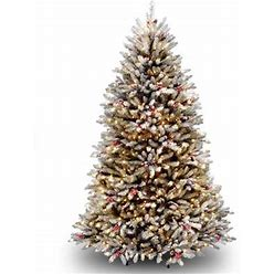Three Posts™ Dunhill Fir Christmas Tree With Clear/White Lights In Green/White   Size 78.0 H X 53.0 W In   B000956004_333208300