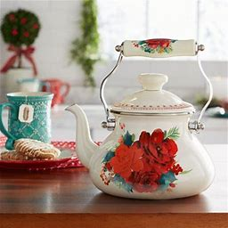 The Pioneer Woman Tea Kettle, Cheerful Rose, 1.9 Quarts