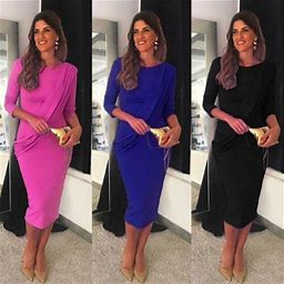 Meihuida 2019 Sexy Summer Women Bandage Long Sleeve Bodycon Dress Solid Color Backless Slim High Waist Solid Party Gown Dress, Women's, Size: Large,