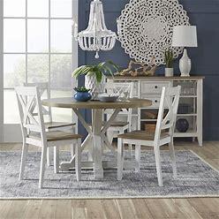 Liberty Furniture - Lakeshore 5 Piece Round Table Set- White - 519-CD-5ROS