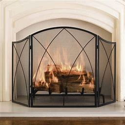 Pleasant Hearth Arched Fireplace Screen