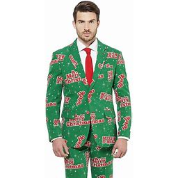 Halloween Suitmeister Happy Holidude Men's Costume Suit Large, Size: 44, Green