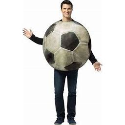 Adult Get Real Soccer Costume | Adult | Mens | Black/White | One-Size | Rasta Imposta