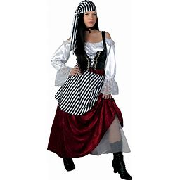 Plus Size Deluxe Pirate Wench Costume | Pirate Dress | Adult | Womens | Red | 2X | FUN Costumes