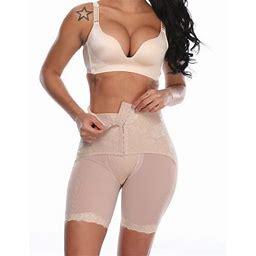 Slimbelle Women High Waisted Panties Butt Lifter Tummy Control Thigh Slimming Shapewear Waist Trainer Cinchers, Women's, Size: Medium, Beige