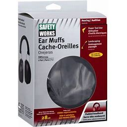 Safety Works Inc Pro Ear Muffs 4 Pack, Size: 1