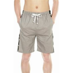 Sayfut Big Men's Casual Cotton Stretch Cargo Shorts Expandable Waist Twill Chino Pants Lightweight Quick Dry Shorts, Size: US Medium (Tag 3XL), Gray