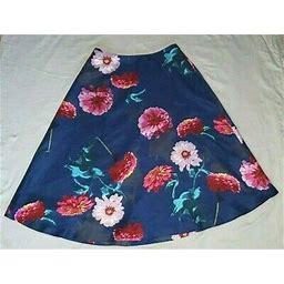 """banana Republic"" ""floral Midi Skirt With Pockets"" Size - 8 Tall"