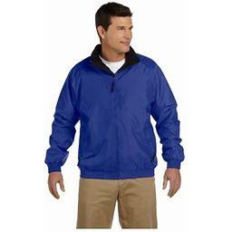 Harriton Men's Nylon Mock Collar Fleece Jacket, Style M740, Size: 2XL, Black