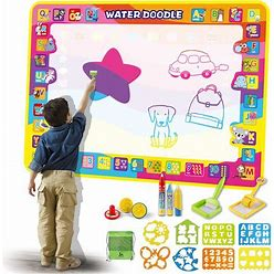 Sainsmart Jr. Water Aqua Doodle Mat For Toddlers, 40X28 In Large Magic Drawing Painting Toys With No Mess Storage Bag, Coloring Writing Educational