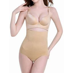 Sayfut Womens Firm Smooth Hi-Waist Shaping Brief Seamless Waist Cincher Corset Shapewear Tummy Control Body Shaper, Women's, Size: Large, Beige