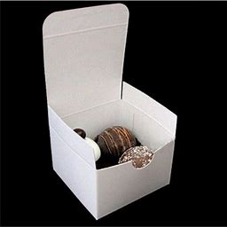 White Gloss Gift Boxes - 3In. X 3In. X 2In. - 20 Pack (4011120)