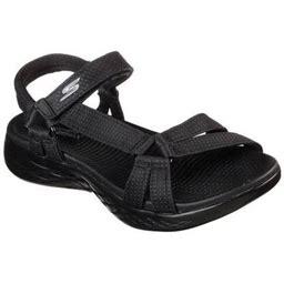 Skechers On The GO 600 Brilliancy Ankle Strap Sandal (Women), Women's, Size: 10 W, Black