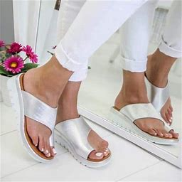 Aetomce Simple And Elegant Women Comfy Platform Sandal Shoes, Summer Beach Travel Shoes Fashion Sandals Comfortable Ladies Shoes, Comfort And Not Easy