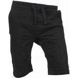 Ma Croix Mens Summer Twill Cargo Shorts Casual Flat Front Classic Fit, Men's, Size: 2XL, Black