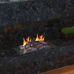 Millwood Pines Avicia Propane Gel Ethanol Or Gas Fireplace Decorative Logs, Size Small