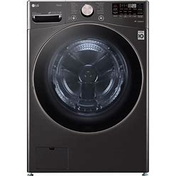 LG Turbowash 360 Smart Wi-Fi Enabled 4.5-Cu Ft High Efficiency Stackable Steam Cycle Front-Load Washer (Black Steel) ENERGY STAR | WM4000HBA