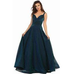 Formal Dress Shops Marine Corps Ball Evening Gown, Women's, Size: 12, Blue