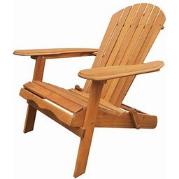 Leigh Country Adirondack Outdoor Folding Chair Natural, Brown