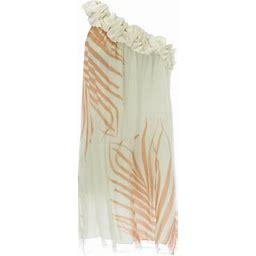 Anne Leman Women's Tropical Print One Shoulder Konos Dress 99936, Size: Small, Other