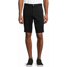 George Big Men's 10 Inch Flat Front Shorts, Size: 44, Black