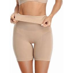Ilfioreemio Women's High Waist Butt Lifter Tummy Control Body Shaper Panty Seamless Smooth Thigh Slimmer Shaping Brief Shapewear, Size: 3XL, Beige