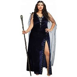 Dreamgirl Women's Plus-Size The Sorceress Dramatic Velvet Costume Gown, Size: XL