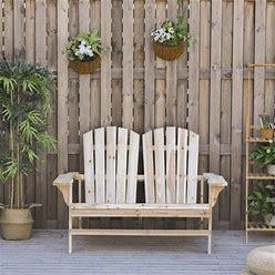 Beachcrest Home™ Jillian Solid Wood Adirondack Chair Wood In White, Size 33.75 H X 50.75 W X 35.5 D In | Wayfair