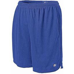 Champion Mens Long Mesh Shorts With Pockets, XS, Surf The Web, Men's, Blue