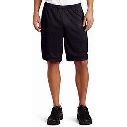 Champion Men's Long Mesh Short With Pockets (Black, 3X), Size: 3XL