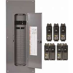 Square D HOM4080M200PQCVP Homeline 200 Amp 40-Space 80-Circuit Indoor Main Breaker Qwik-Grip Plug-On Neutral Load Center With Cover - Value Pack