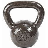 Everyday Essentials Cast Iron Kettlebell, Single, 20 Lbs, Gray