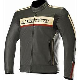 Alpinestars Dyno V2 Leather Jacket (48, Black/Stone/Red)