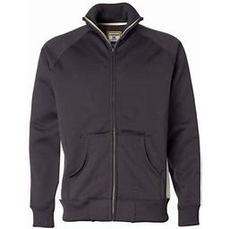 J. America - Vintage Polyester Fleece Track Jacket - 8858, Men's, Size: Medium, White