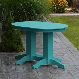 "Wayfair Red Barrel Studio® Nettie 6 - Person Dining Set Finish: Aruba Blue, Table, Plastic In Red/Brown/White, Size 48"" L X 33"" W"