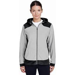 Team 365 Women's' Rally Colorblock Microfleece Jacket, Style Tt94w, Size: Medium, Black