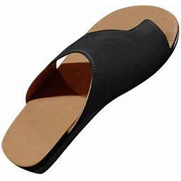 Gliving Women Comfy Platform Sandal Shoes Comfortable Ladies Sandal Shoes Summer Beach Travel Shoes Fashion Sandals Shoes, Women's, Size: 38, Black
